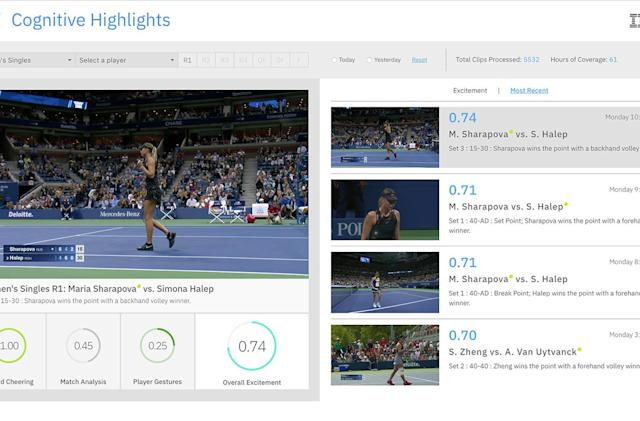 IBM's Watson is creating US Open tennis highlight videos