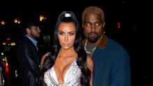 Kim Kardashian just defied gravity in this silver chainmail dress