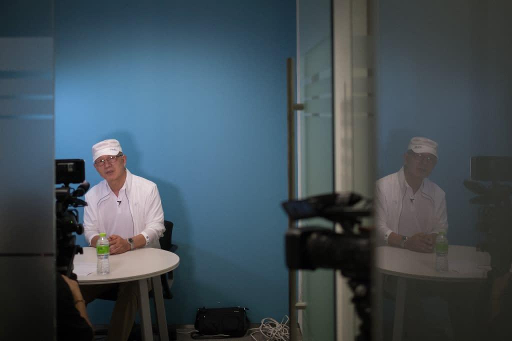 Former South Korean spy Park Chae-seo, codenamed 'Black Venus' talking to AFP in Seoul