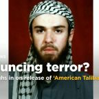 Trump says newly released 'American Taliban' will be watched closely
