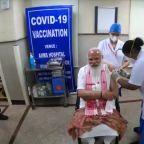 India's Modi takes home-grown vaccine