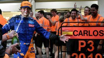 Sainz claims McLaren's first podium since 2014 after 'unbelievable' race
