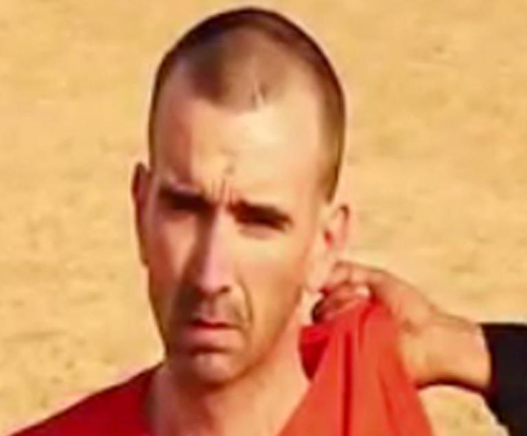 Image grab taken on September 2, 2014 from a video by the Islamic State and identified by SITE Intelligence Group purportedly shows British aid worker David Haines. AFP IS NOT RESPONSIBLE FOR ANY DIGITAL ALTERATIONS TO THIS PICTURE. (AFP Photo/)