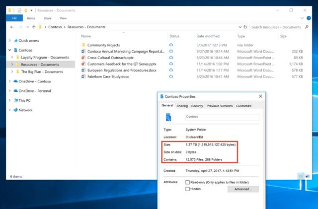 Microsoft rolls out space-saving Files on Demand to Windows Insiders