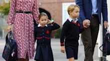 Princess Charlotte steals the spotlight on her first day of school