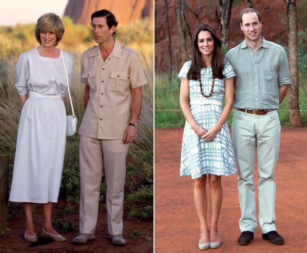Kate und William im Safari-Look – wie Diana und Charles damals!