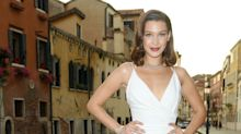 Bella Hadid Just Channelled Marilyn Monroe In Super High-Slit Dress