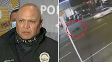 Shocking video of moment man killed by THREE hit-and-run drivers