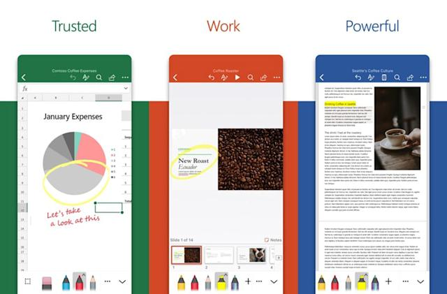 Microsoft's redesigned Office apps for iOS are faster and simpler