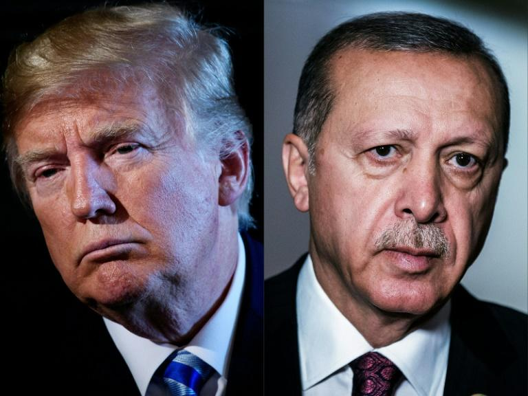 Trump's apparent green light to his Turkish counterpart has sparked a chorus of domestic and international criticism (AFP Photo/Brendan Smialowski, Gianluigi GUERCIA)