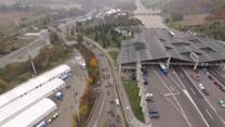 Drone footage shows immigrants passing through Slovenian-Austrian border