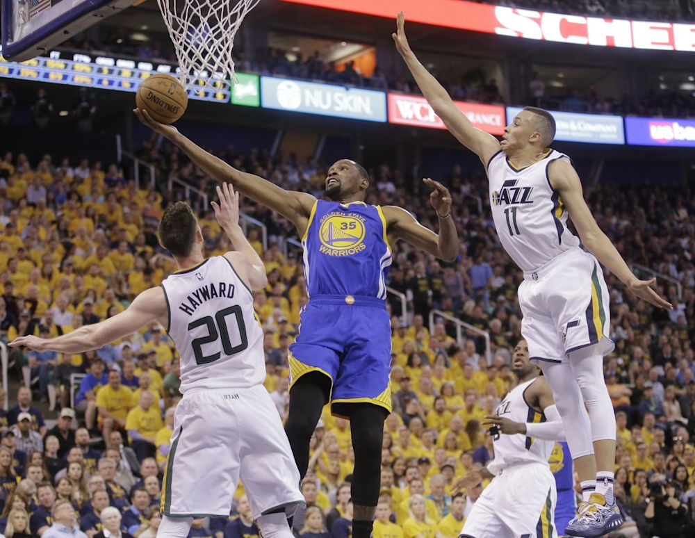 Durant and the Warriors have yet to lose a game this postseason. (AP)