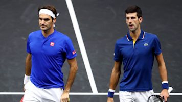 Federer, Djokovic fall in their doubles debut