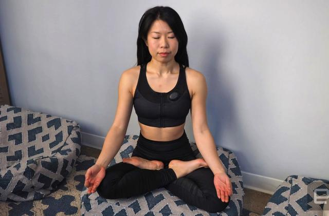 A vibrating smart bra keeps tabs on how zen you feel