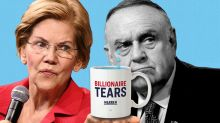 Elizabeth Warren's 'mug of billionaire tears' costs $25 and is one of the hottest-selling items on her campaign website