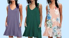 We can't believe this sleeveless T-shirt dress is only $33 on Amazon