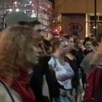 'White Silence Is Violence' Protest Held Near Billy Joel Concert in St Louis