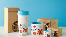 日本Starbucks超靚新杯 限定版「雪景富士山」