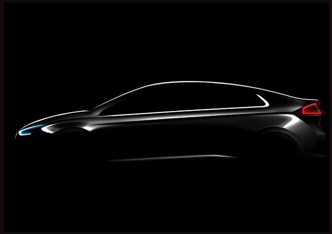 Hyundai teases the Ioniq, its first all-electric vehicle