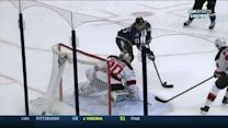 Michael Kostka scores with a nifty backhand