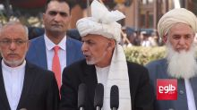 Ghani Continues to Deliver Speech as Blasts Heard in Background