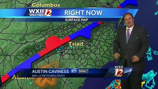 Sunny with possible clouds and light shower in the Triad