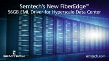 Semtech Announces Availability of New FiberEdge™ 56GB EML Driver for Hyperscale Data Center Applications