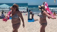 Blogger shares powerful message after being body shamed at the beach