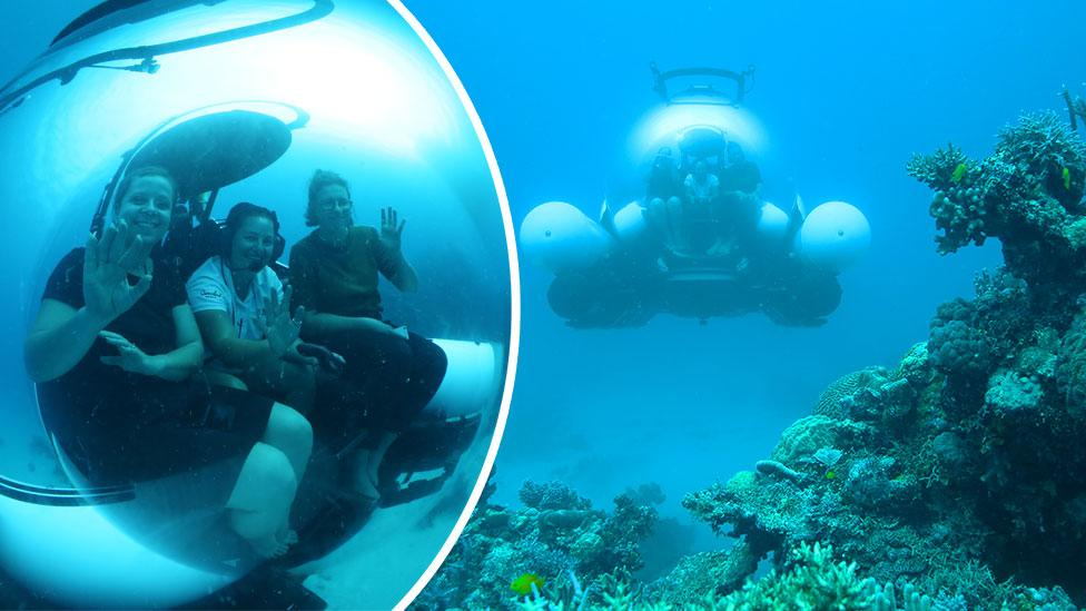 We tried the ScUber sub on the Great Barrier Reef and it was mind-blowing