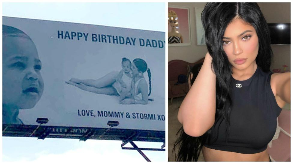 3860fa77b8d6 Kylie Jenner and Stormi's billboard for Travis Scott's bday