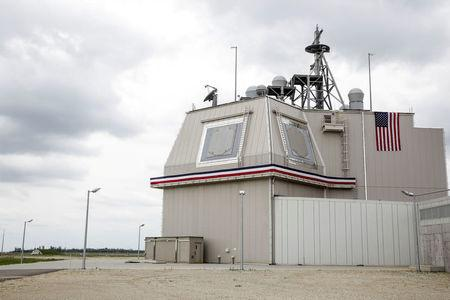 FILE PHOTO: The deckhouse of the Aegis Ashore Missile Defense System (AAMDS) at Deveselu air base, Romania, May 12, 2016. Inquam Photos/Adel Al-Haddad/via REUTERS/File Photo