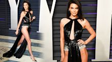 Kendall Jenner bares (almost) all in loin cloth inspired dress at Oscars after party