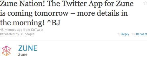 Twitter for Zune coming tomorrow, @Facebook where are you?