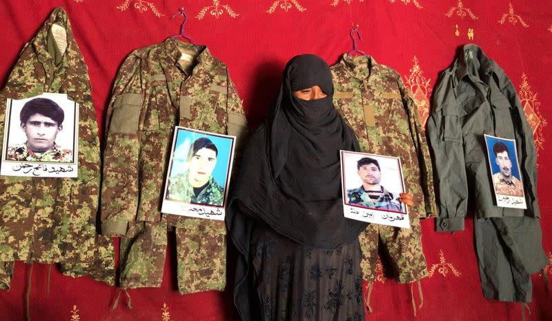 Afghan woman prays that peace will save her fourth husband