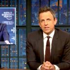 Seth Meyers Offers A Savage Analogy For Senators' Behavior At Impeachment Trial