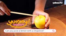 Yummy Answers: Can you juice a lemon with a single chopstick?