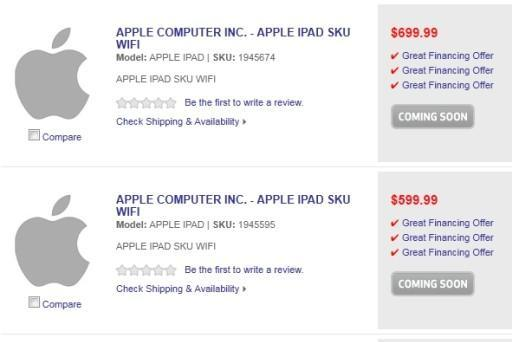 Three iPad dummy SKUs appear at Best Buy website