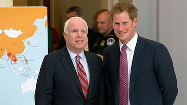 Prince Harry Visits Landmine Exhibit on Capitol Hill