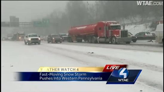 Kelly Brennan reports from messy Parkway West