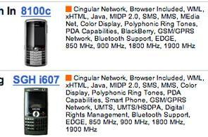 BlackBerry Pearl 8100c and Samsung SGH-i607 coming to Cingular?