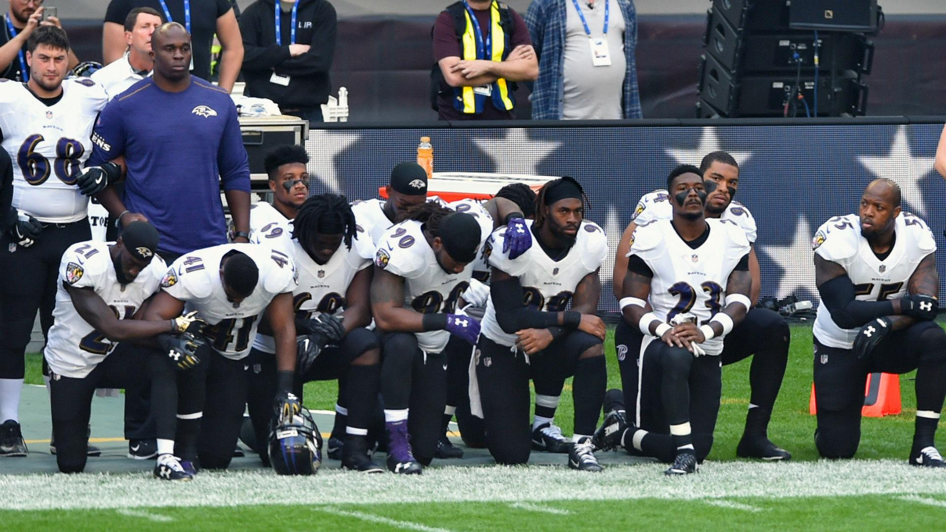 NFL players take a knee at Wembley after criticism from ...