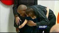 Blood donors meet grateful 7-year-old recipient