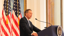 Is John Kasich finishing the tour, or just getting started?