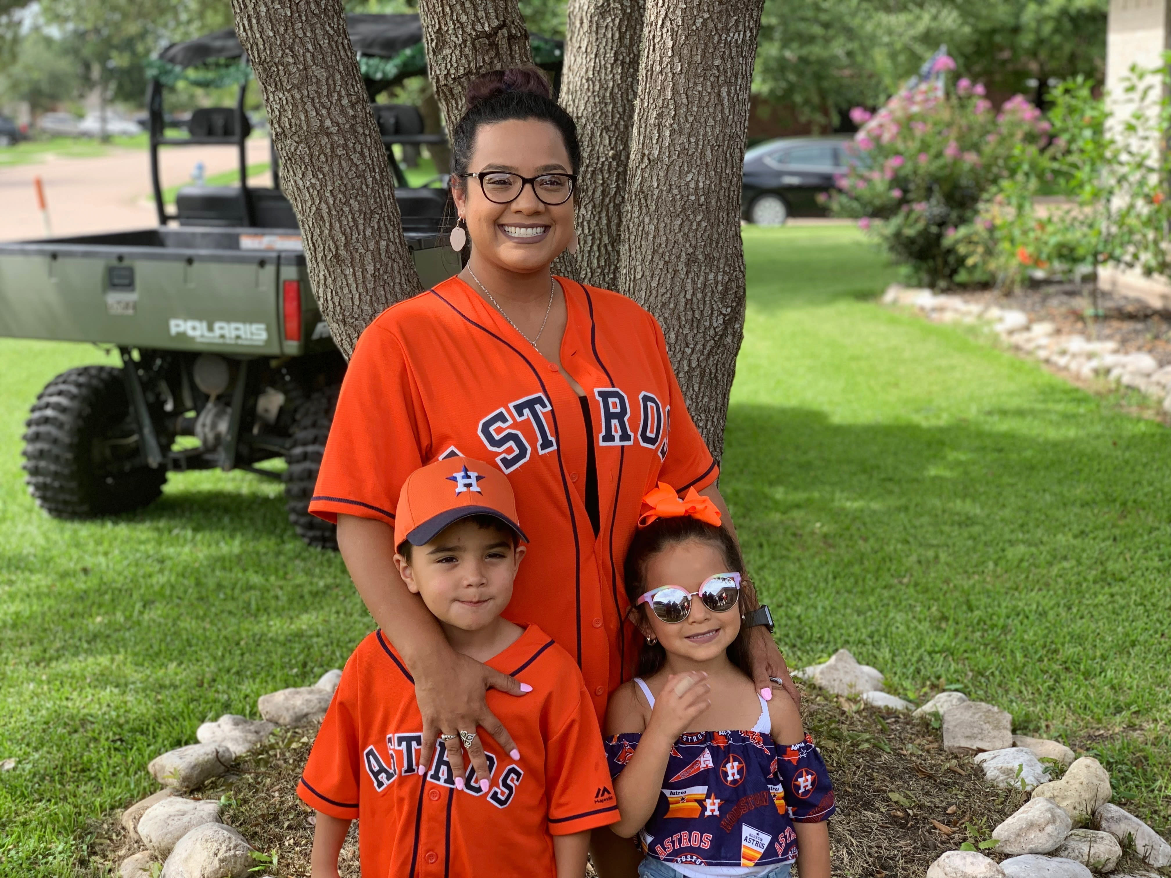 This undated photo provided by Maria Castillo shows Castillo, center, with her son Josiah McIntyre, left, and daughter Alayna Flores. A Houston-area official said Monday, Sept. 28, 2020, it will take 60 days to ensure a city drinking water system is purged of a deadly, microscopic parasite that doctors believed killed Josiah McIntyre and that led to warnings for others not to drink tap water. (Courtesy of Maria Castillo via AP)