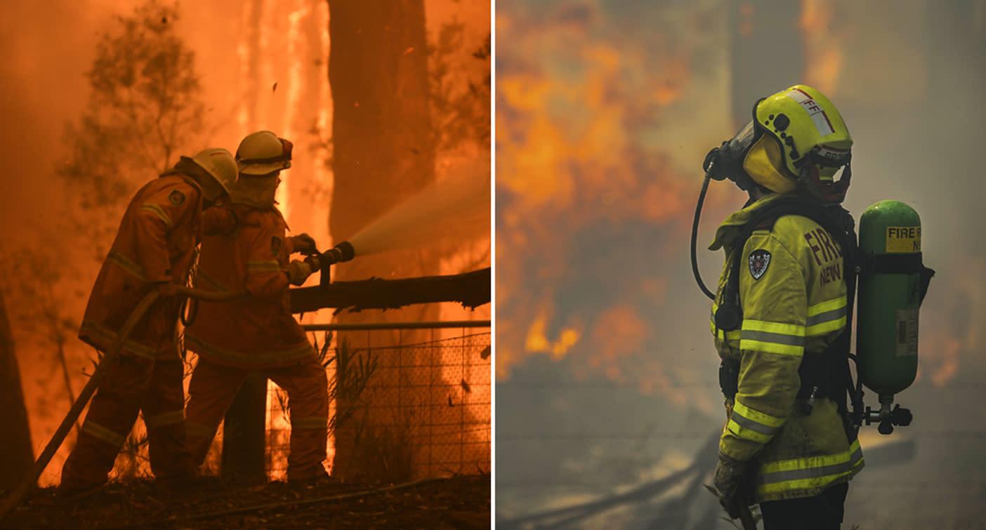 Fires merge into mega blaze in Sydney's northwest as eight given emergency warning status