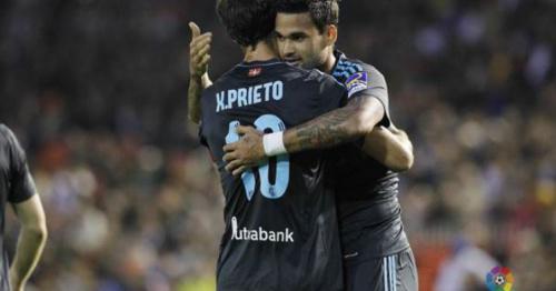 Diego Alves faz contra, Willian José marca e Sociedad bate o Valencia