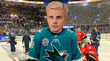 Justin Bieber (kind of) participates in NHL All-Star Skills Competition