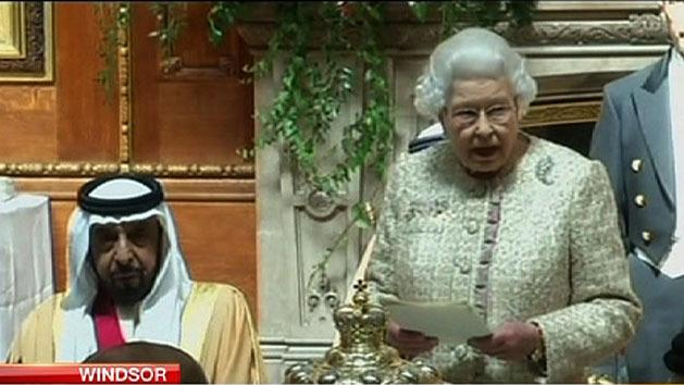 Queen welcomes UAE President to Britain