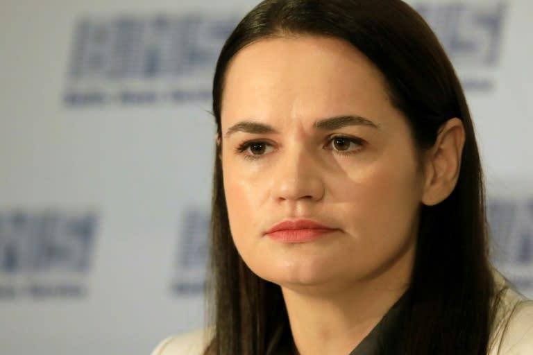 Svetlana Tikhanovskaya stood for election after her husband was arrested