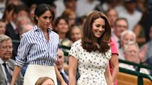The Duchesses offer contrastingtakes on off-duty dressing for girls' day at Wimbledon